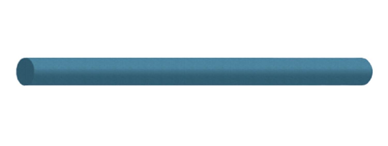 6 x 5//16 Blue Round Silicon Carbide Extra Fine Dedeco 0235 Rubberized Abrasive Block//Stick