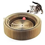 Cat Lounge Sofa Bed Scratching Board Cardboard Scratch Pad Post Turbo Toy for Scratching Lounging Playing 3 in 1 Design Includes Free Ball Toy and Catnip for Small Medium Large Kitty