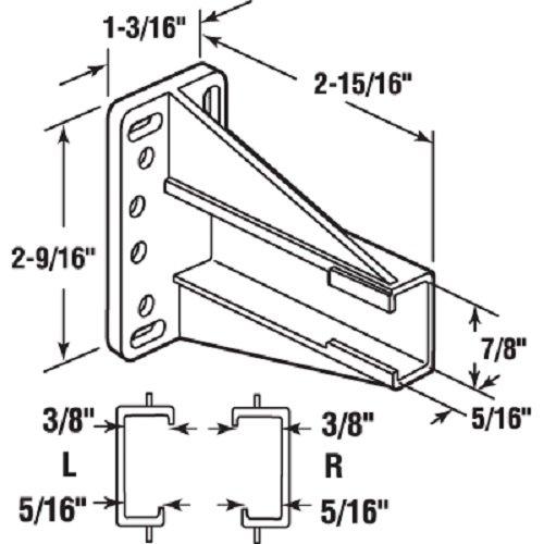 Prime-Line Products R 7240 Drawer Side Track Back Brackets