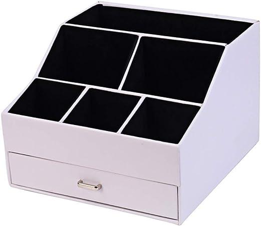 Organizador de Escritorio Escritorio Joyería Cosméticos Cajón Caja de Almacenamiento Oficina Papelería Caja de Acabado multifunción: Amazon.es: Hogar