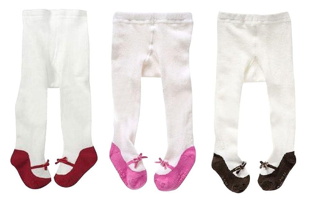 Taiycyxgan Baby Girls 0-3T Infant Stock Legging Pants 3 Pack Tights Panties Stockings