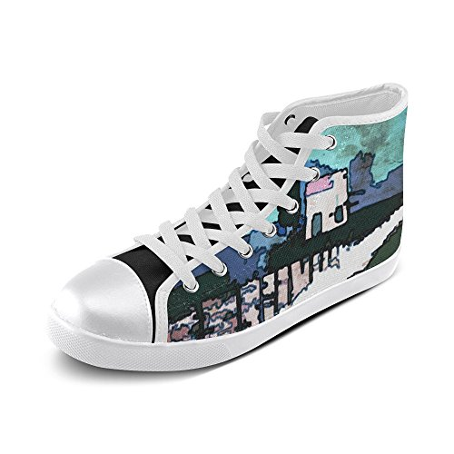 Artsadd Artsdd Custom Artistic Plaid Artistic Plaid Alan High Top Canvas Shoes For Womens(Model002) lnFPr8jdG