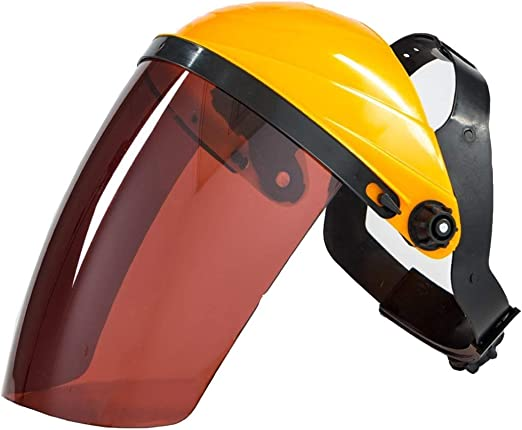 Amazon Com Helmet Hard Hat Work Safety Helmet Pc Plexiglass Welding Mask Welding Welder Protective Mask Head Mounted Argon Arc Welding Gas Shielded Welding Translucent Construction Worker Helmet Color C Home Kitchen