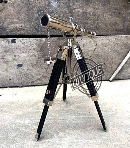 Used, AV Brass Telescope with Tripod Stand Vintage Sea Shore for sale  Delivered anywhere in USA