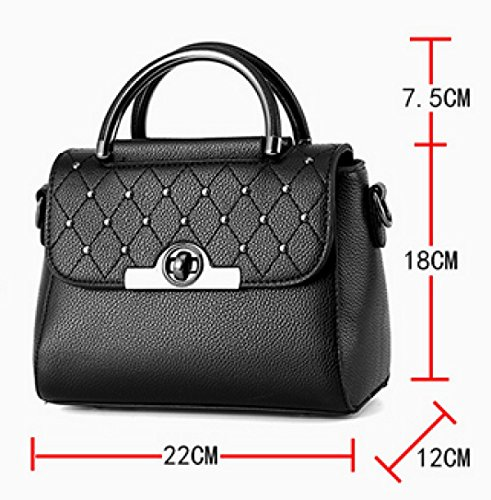 Hand Shoulder Messenger Bag RubberPowder Rivet Square Lady Small q7Swtx5n
