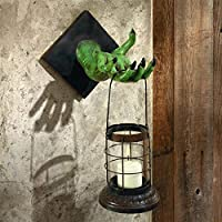 Design Toscano Polyresin Zombie Lantern of The Apocalypse Wall Sculpture, Full Color