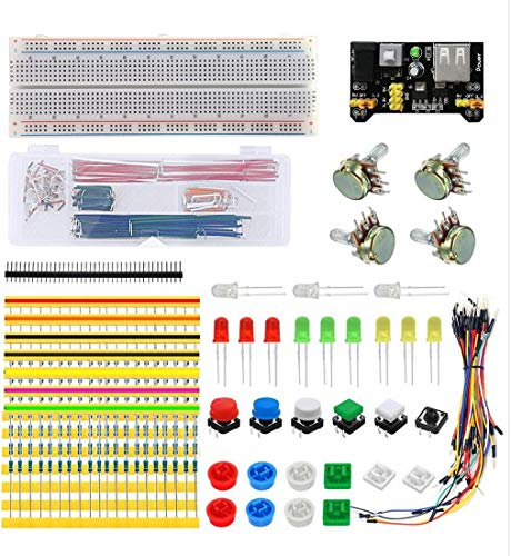 Basic Generic Parts Package B1 Ultimate Electronics Components Bundle Electronic Parts Pack Starter Kit Raspberri Pi - Universal Components Kit DIY Element Kit for Arduino