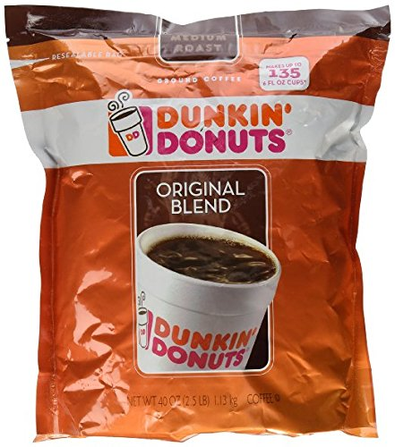Dunkin' Donuts Original Medium Roast Blend Coffee, 3Pack (40oz Each) Ck#XDF by Dunkin' Donuts