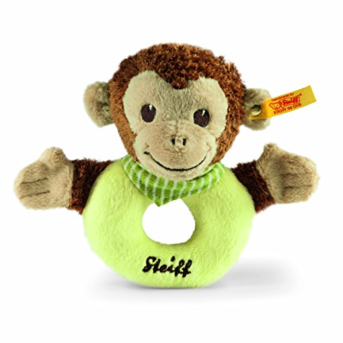 Steiff 240171 Jocko Monkey Grip Toy, Brown/Beige/Green