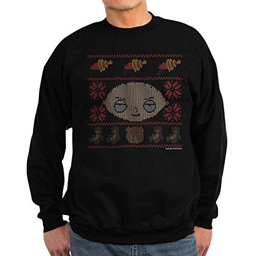 CafePress Family Guy Stewie Ugly Christmas Classic Crew Neck Sweatshirt Black (Family Christmas Sweater Guy)