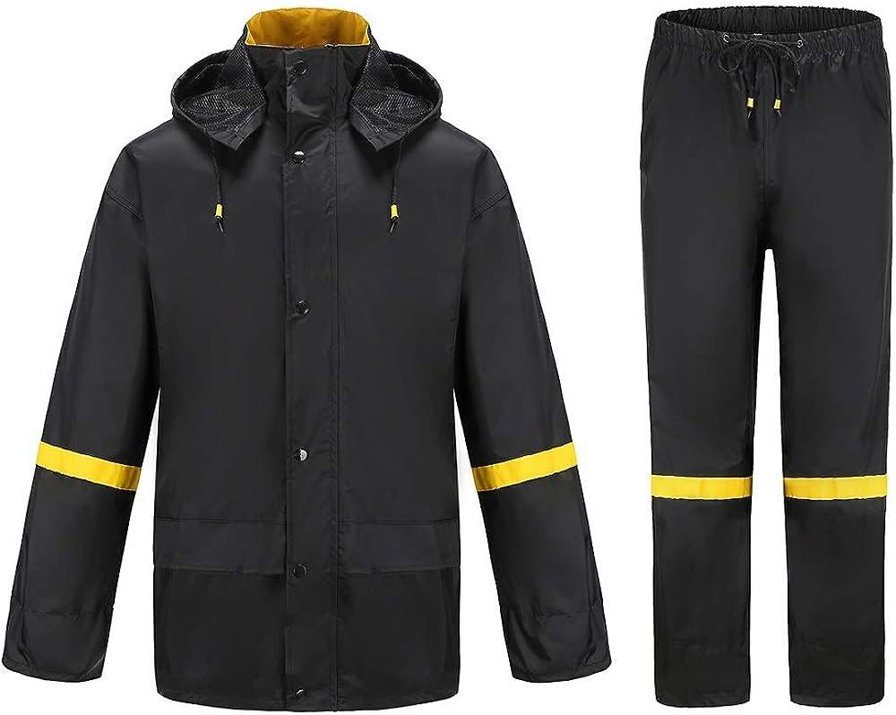 Ourcan Rain Suits for Men Fishing Rain Gear for Men Waterproof Rain Coats for Men Rain Jacket and Rain Pants: Clothing