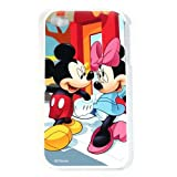 iPhone 4S / 4G / 4 Minnie & Mickey Mouse Disney Colorful Design on HARD Protector Cover Case - Includes TWO Bonus Personal Charm Straps!