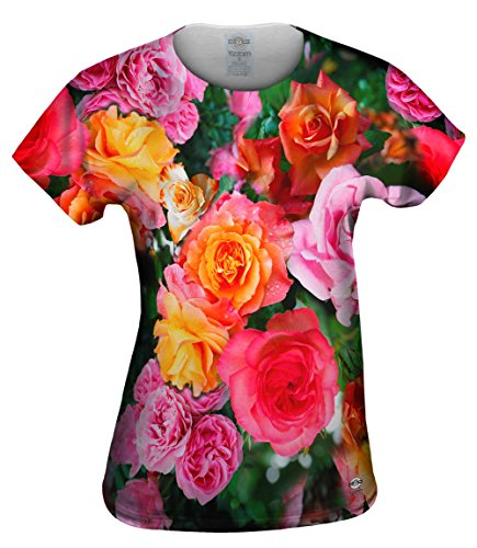 Yizzam- Bright Day Rose Bouquet -Tshirt- Womens Shirt-Large ()