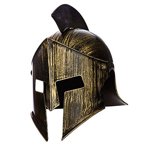 Fancy Dress Spartan (Gladiator / Spartan Helmet ancient warrior costume Accessory)