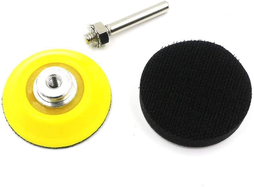 Hook and Loop Sanding Pad for Sanding Discs with 1//4 Inches Shank Drill Attachment and Soft Foam Layer Buffing Pad 50Mm HYY-YY 5 Pack 2