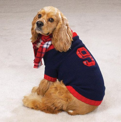 Knit Rugby - English Knit Rugby Sweater W/Pld Scarf Xsm Navy [Misc.] [Misc.]