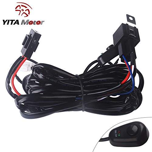 YITAMOTOR-8ft-40Amp-12V-Power-Fuse-Relay-ONOFF-Switch-Wiring-Harness-Kit-for-Driving-Light-Fog-Light-ATVJeep-LED-Light-Bar-Offroad