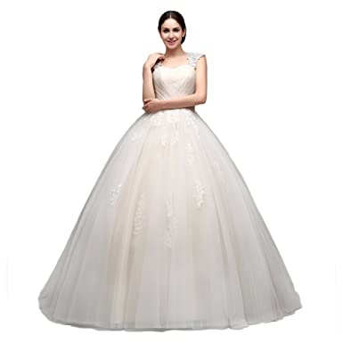 KA Beauty Womens Sweetheart Appliques Ball Gown Wedding Dresses UK 6