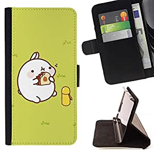 Momo Phone Case / Flip Funda de Cuero Case Cover - Cerdo lindo grasa - Apple Iphone 4 / 4S