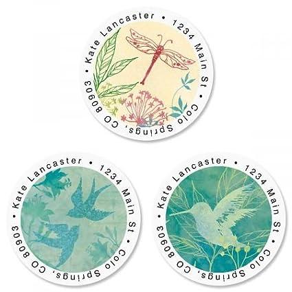 amazon com nature song round return address labels 3 designs