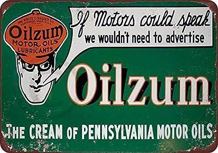Amazon.com: Oilzum - Cartel de metal con diseño de aceite de ...