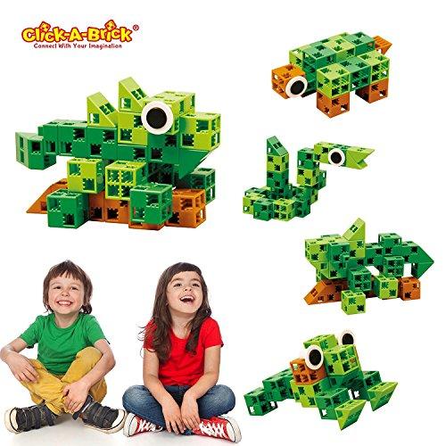 09eaec000f76 Click-A-Brick Rainforest Rascals 30pc Building Blocks Set
