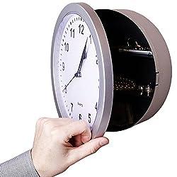 Moon Daughter Safe Clock Compartment Security Stash Box Hidden Wall Secret Jewelry Money Cash