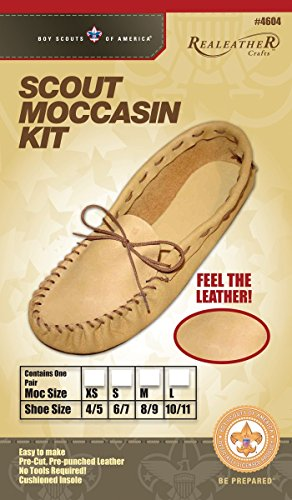 Silver Creek Leather Scout Moccasin Kits-Size 6/7 - Moccasin Kit