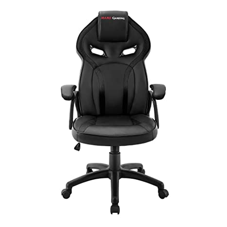 Mars Gaming MGC118 - Silla gaming profesional (inclinación y altura regulables, reposacabezas acolchado,