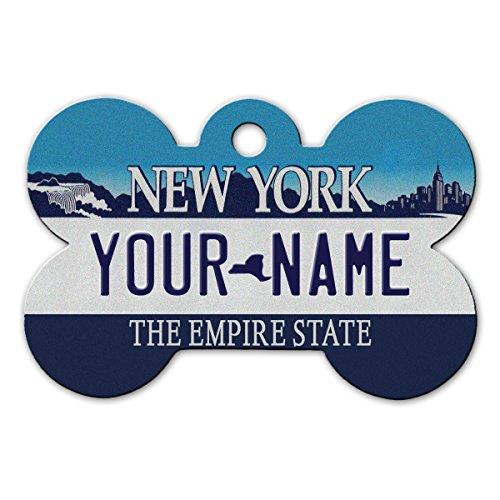 BleuReign(TM Personalized Custom Name 2000s New York State License Plate  Bone Sh.. 3f0fedfdf