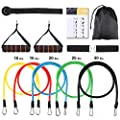 Resistance Band Set Trofoty Exercise Bands with Door Anchor,Handles,Ankle Straps,Carry Bag for Strengthening Training