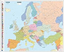 Mapa plastificado Europa Político: 1 Mapas en tubo y plastificados Michelin: Amazon.es: Michelin: Libros