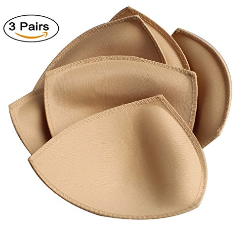 TopBine 3 Pairs Removable Bra Pads Insert