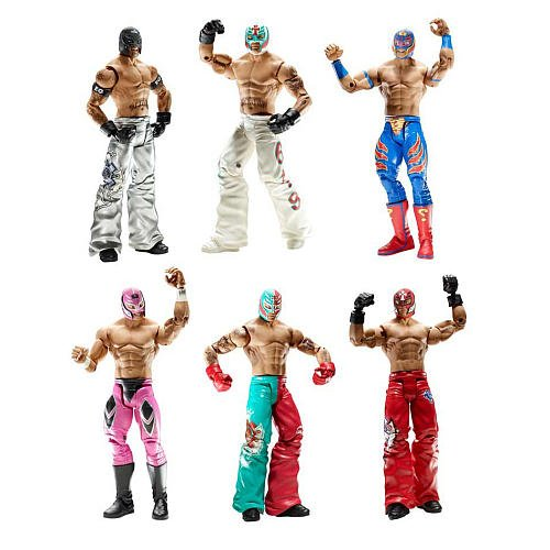 Mattel WWE Wrestling Exclusive Rey Mysterio 6Pack 19952005