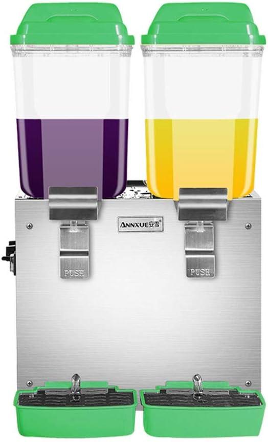 CWYPC Dispensador De Bebidas, Dispensador De Jugos Enfriador De Bebida, Fria y Caliente, Remover, Ideal para Fiestas y Buffet 32Lgreen