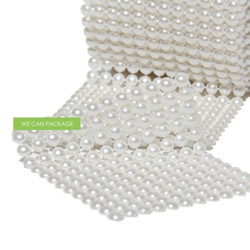We Can Package Pearl Mesh Wrap Roll Table Runner Wedding Decoration 4.5