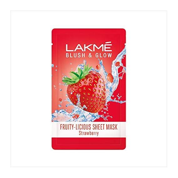 Lakme Blush & Glow Strawberry Sheet Mask, 20 ml