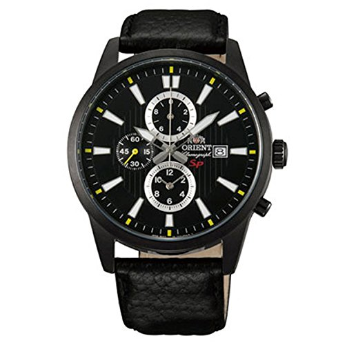ORIENT Quartz Men's chronograph watch STT12002B Black / Black