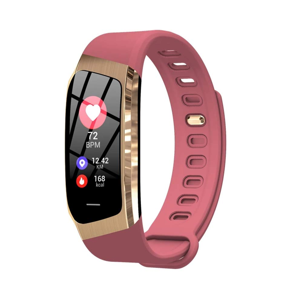 WETERS Fitness Tracker Activity Tracker orologio cardiofrequenzimetro Impermeabile Step GPS Track Bracciale Sportivo(rosa)