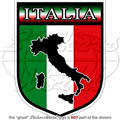 en Bumper Sticker en vinyle Italie Italien Italia Bouclier 100/mm 10,2/cm