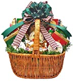 Meat, Cheese, Smoked Salmon & Nuts Gourmet Food Christmas Holiday Gift Basket - X-LARGE