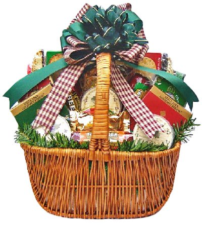 Sausage, Cheese, Crackers and Nuts | Christmas Gift Basket | Size Large