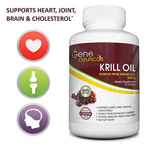 Premium krill oil 500 mg omega epa dha astaxanthin for Is krill oil better than fish oil