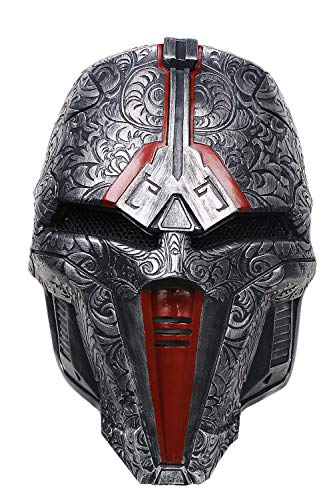 (xcoser Sith Acolyte Mask Deluxe Dark Gray Resin Halloween Cosplay Accessory)