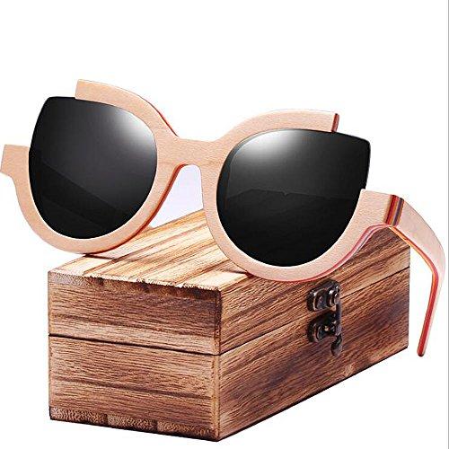 Mujer Gafas Vintage C3 Retro Eye De ANLW Mujer De Sol para C2 Trendy Cat wRdInApq