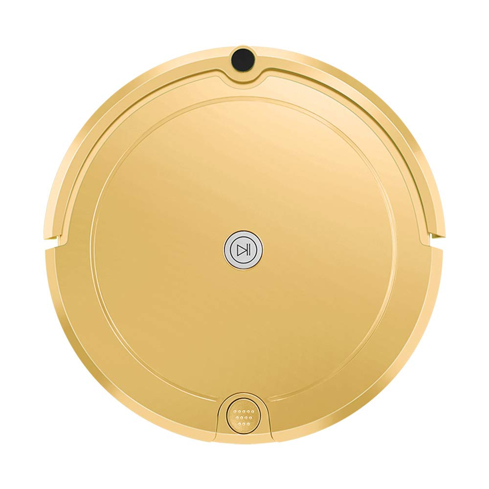 FENGRUI FR-E701 Robot Vacuum Cleaner with Water Tank Mop Cost-Effective Automatic Remote Control for Pet Hair Carpets Hard Floor Low Noise Surfaces 12.7x13x3.34 Inches Gold