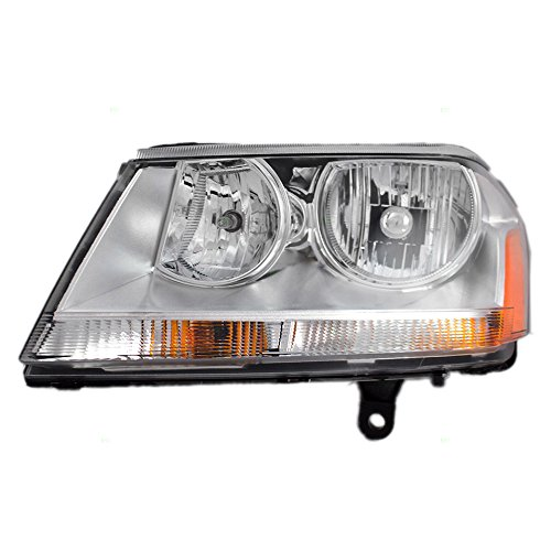 Drivers Headlight Headlamp Lens with Chrome Bezel Replacement for Dodge 5116203AE AutoAndArt