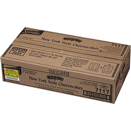 Sara Lee Wholesome Indulgence Round New York Style Cheesecake, 80 Ounce -- 4 per case.