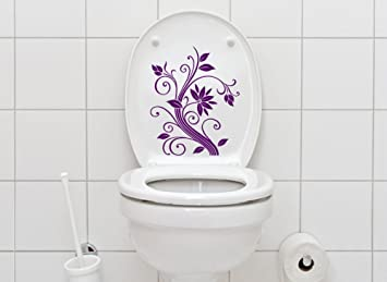 Grandora W856 Wc Aufkleber Blumenranke Badezimmer Hellbraun Amazon