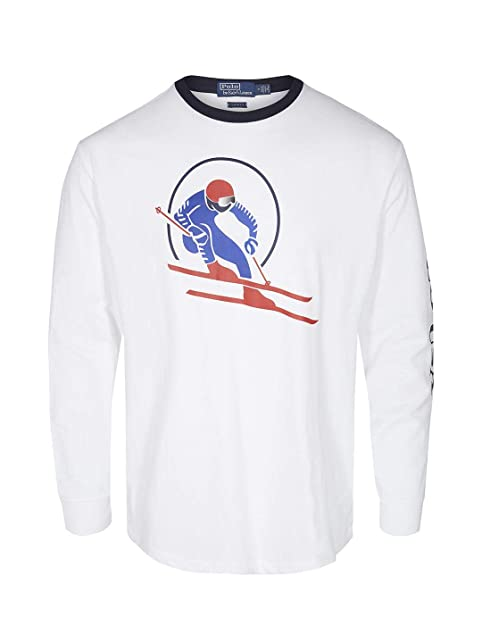 Camiseta Manga Larga Polo RALPH LAUREN SKI 92 XL Blanco: Amazon.es ...